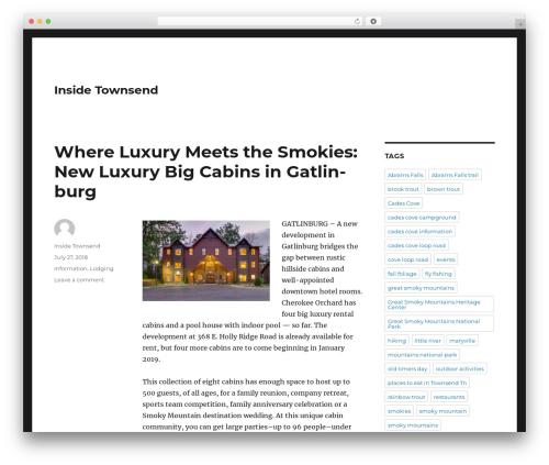 Twenty Sixteen best free WordPress theme - insidetownsend.com