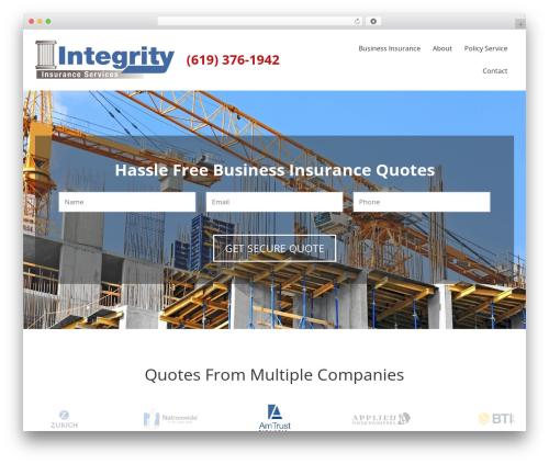 WordPress theme BrightFire Stellar - integrityinsured.com