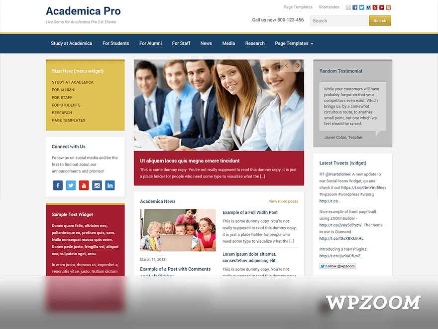 Academica Pro Child theme WordPress