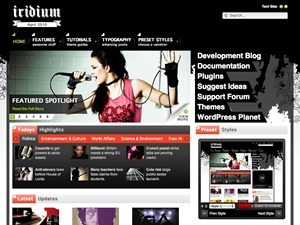 Best WordPress template Iridium Wordpress Theme