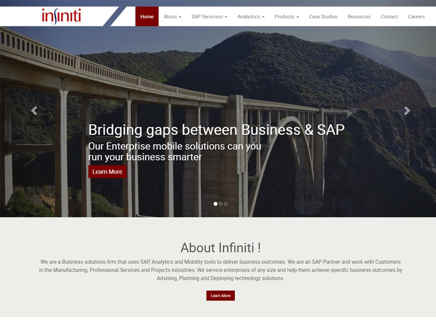 Infiniti WordPress theme