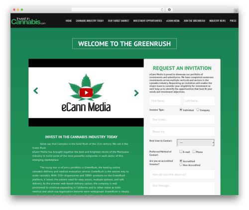 WordPress gallery-video plugin - investincannabis.com