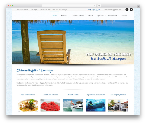 Lounge WordPress website template - islandconciergetc.com