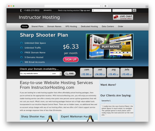 New Evolution best WordPress template - instructorhosting.com