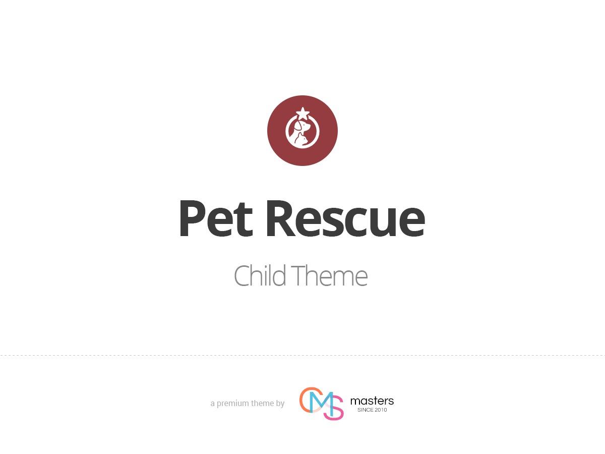Pet Rescue Child theme WordPress