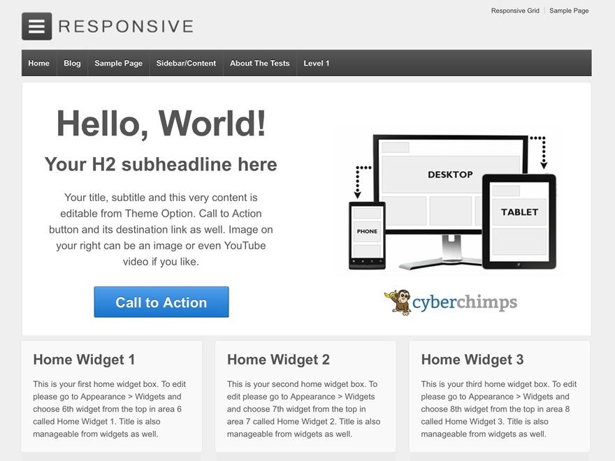 Responsive Child WordPress website template