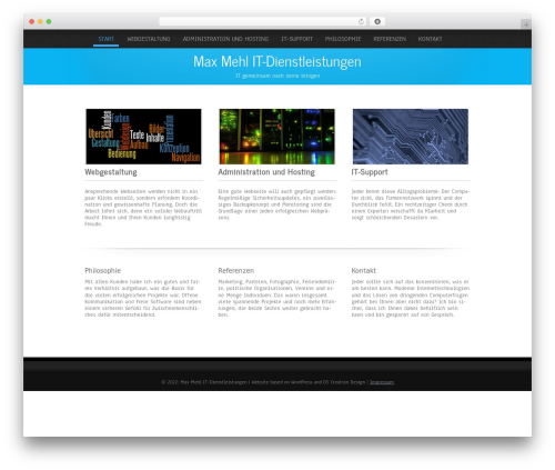Template WordPress Simplicity Lite - it.mehl.mx