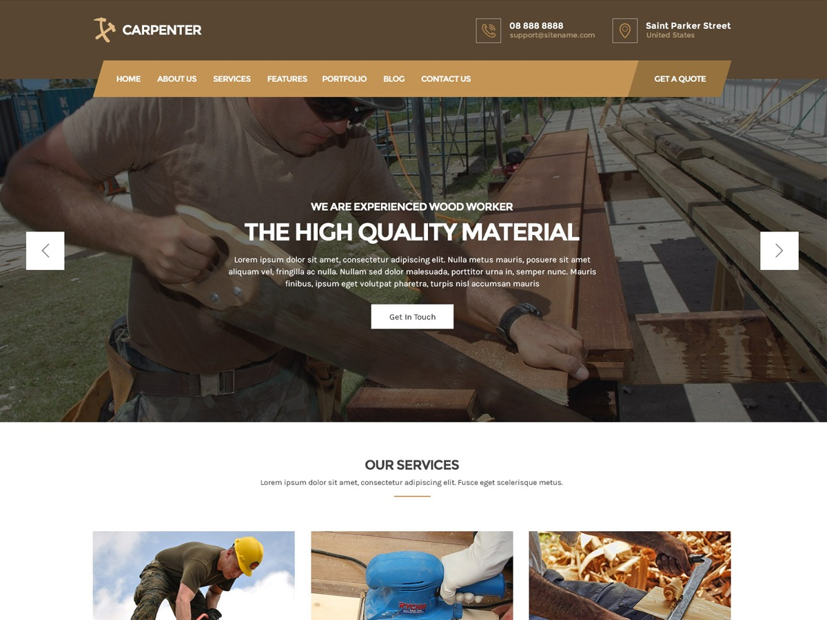 Carpenter Lite WordPress store theme
