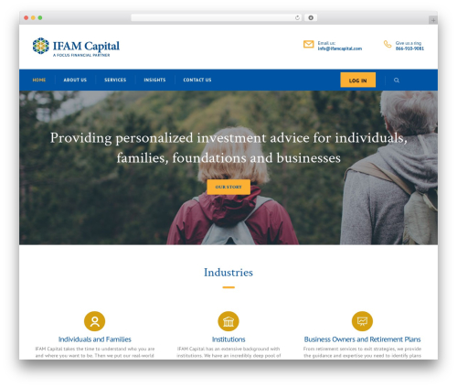 Consulting WordPress template free - ifamcapital.com