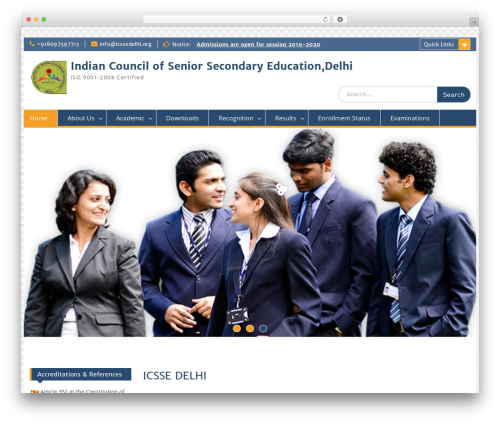 Education Hub WordPress theme free download - icssedelhi.org/wp