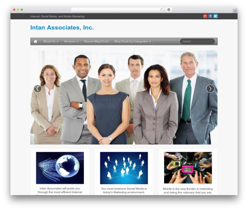 iFeature best free WordPress theme - intaninc.com