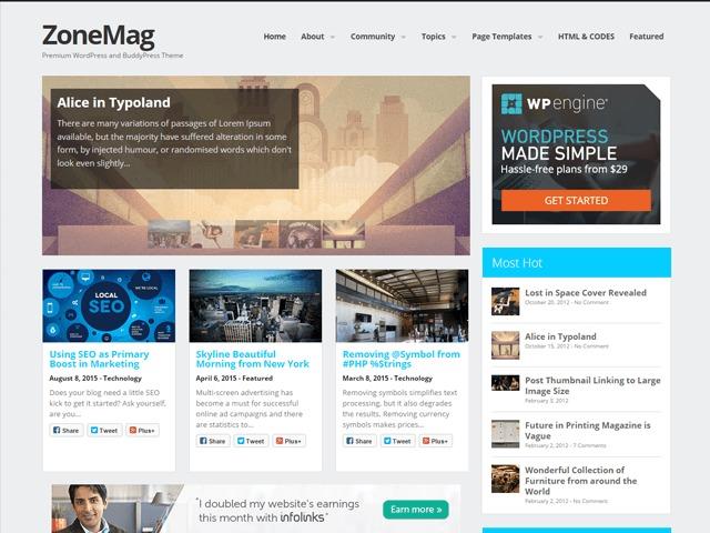 sims best WordPress template
