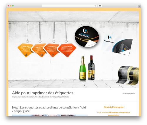 Spacious best free WordPress theme - imprimer-etiquette.com