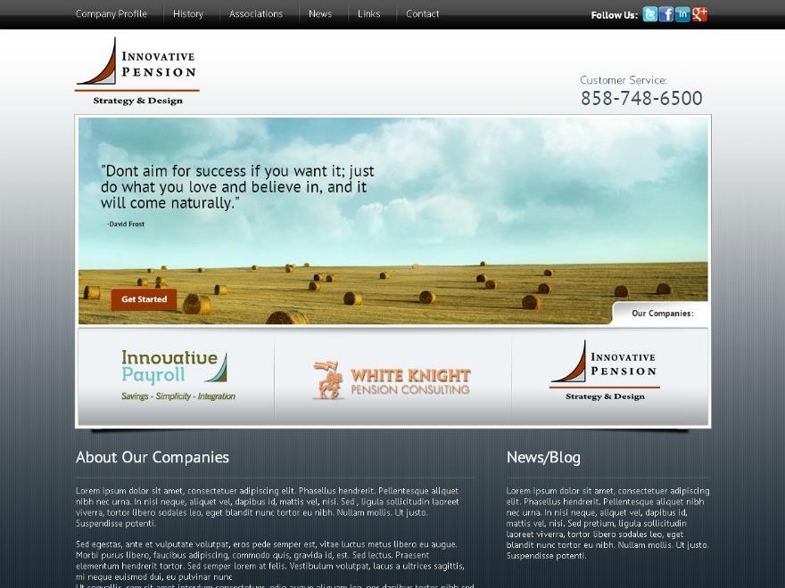 WordPress theme Innovativepension