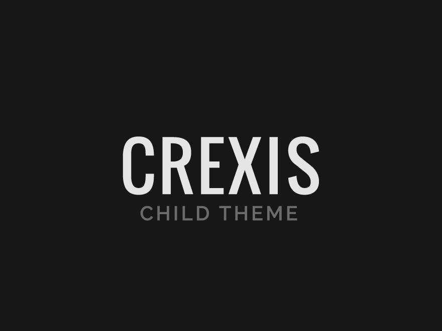 WordPress website template Crexis Child
