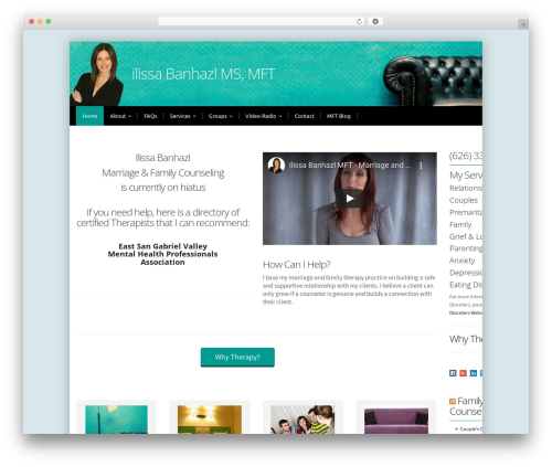 alterna8 WordPress theme - ilissabanhazlmft.com