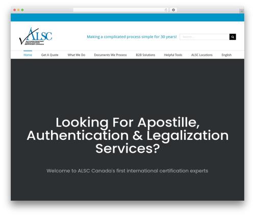 Avada template WordPress - alscanada.ca