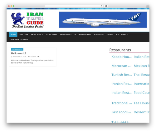 ColorMag Pro WordPress travel theme - iran-travel-guide.com