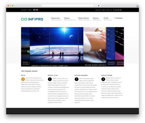 Corona template WordPress - infipro.az