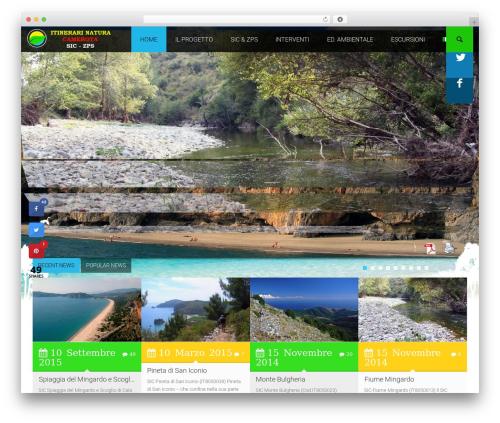 Environmental WordPress theme - itinerarinaturacamerota.com