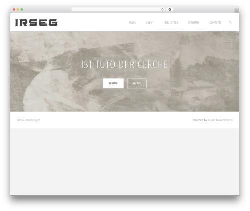 Fluida free WordPress theme - irseg.it