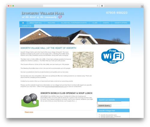 Modular WordPress template - ixworthvillagehall.co.uk
