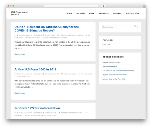 Responsive WordPress theme - irsform.org
