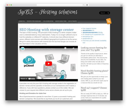 Snowblind WordPress theme - igibs.ch