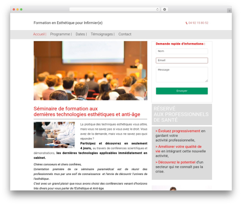 The7.2 company WordPress theme - infirmiere-esthetique-formation.com