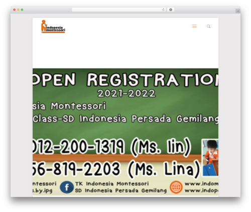 Theme WordPress Betheme - indomontessori.com