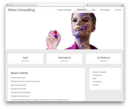 WordPress template Radiate - itilien.pl