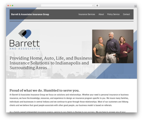 WordPress theme BrightFire Stellar - insurewithbarrett.com