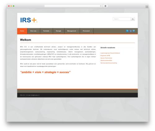 WordPress theme Pytheas - irsplus.nl