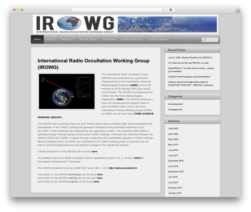 WP template Themify iTheme2 - irowg.org