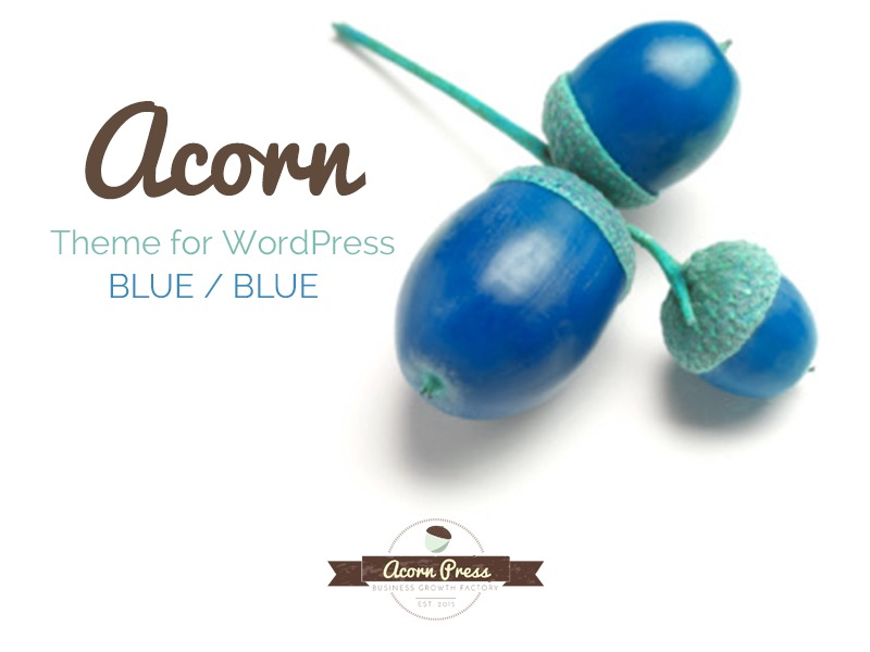 Acorn template WordPress