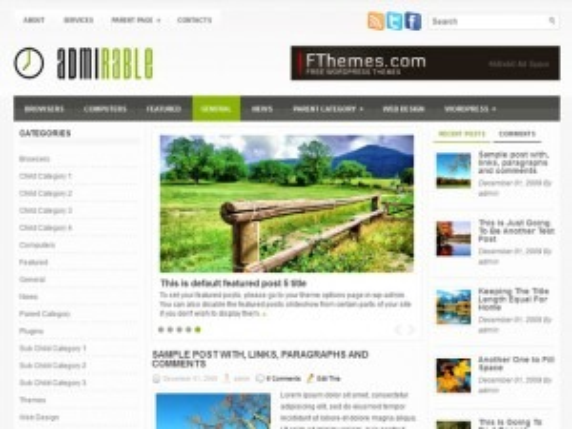 Admirable WordPress theme