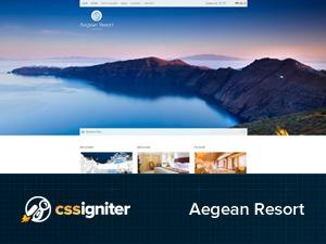 Aegean Resort best hotel WordPress theme