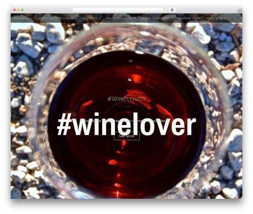 Arcade Basic free WordPress theme - winelover.co