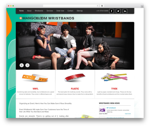 Arctica best WordPress template - wristbands.in