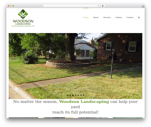 Avada garden WordPress theme - woodsonlandscaping.com