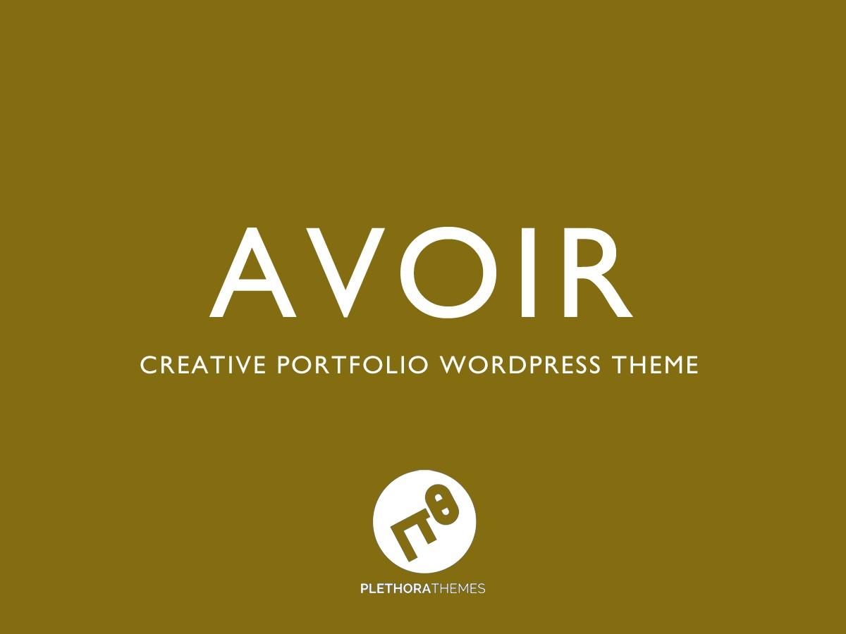 Avoir WordPress portfolio theme