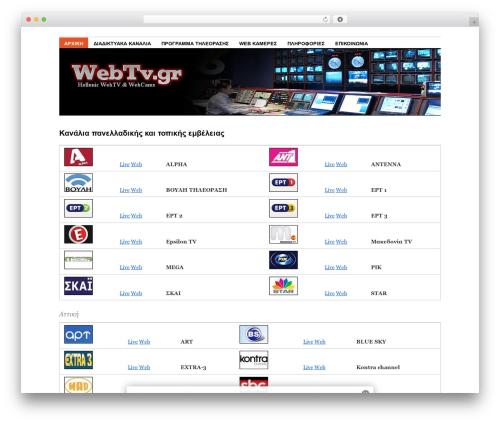 Best WordPress template Coraline - webtv.gr