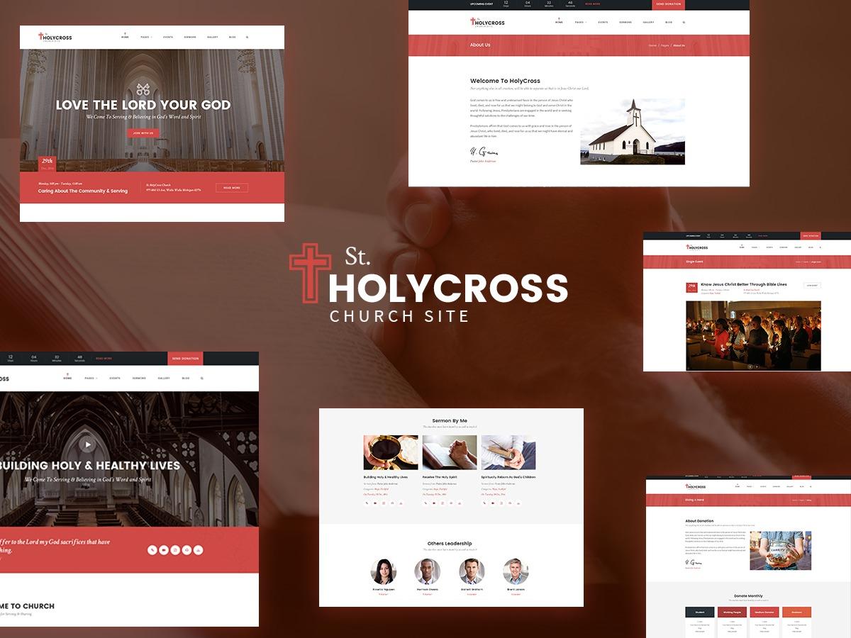 Best WordPress template HolyCross