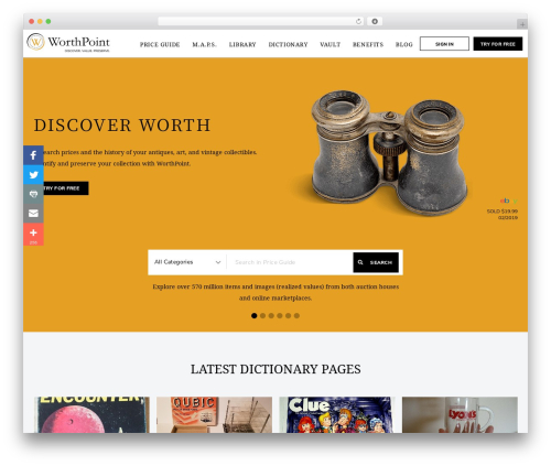Best WordPress theme Chester - worthpoint.com/?utm_source=worthpoint.co.uk&utm_medium=referral