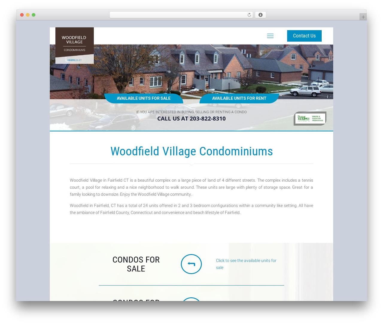 Betheme WordPress template - woodfieldvillagecondos.com