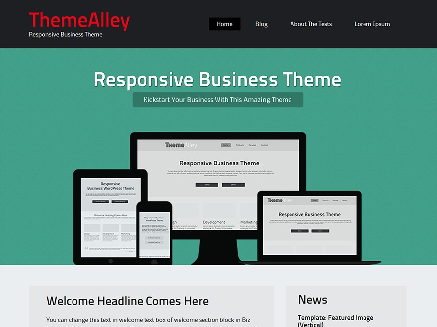 BizSphere company WordPress theme