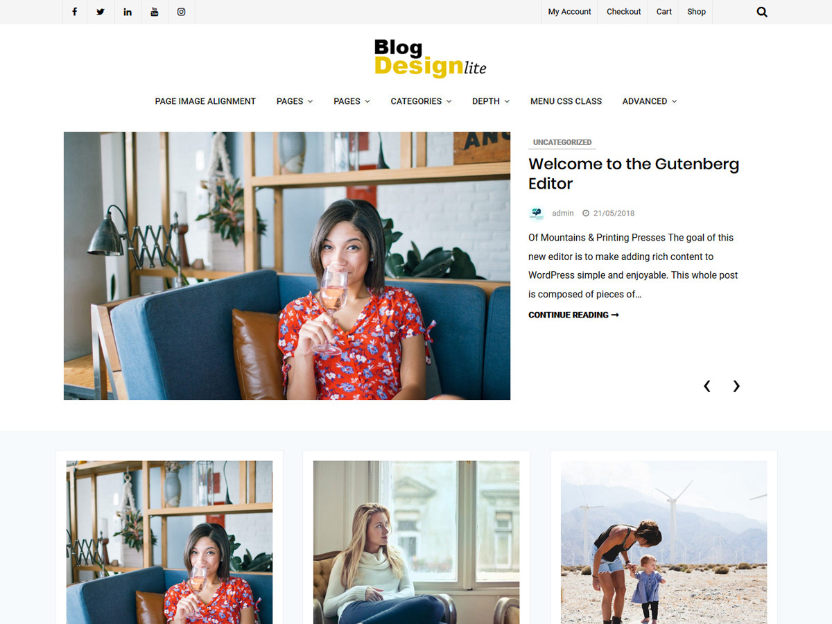 Blog Design Lite WordPress blog theme