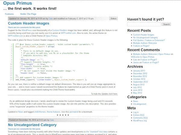 Cais WordPress template
