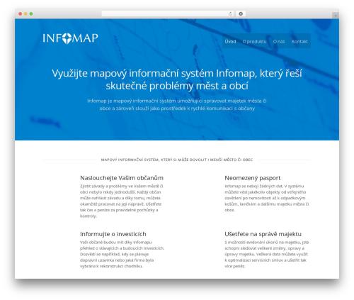 Caveat free WordPress theme - web.infomap.cz
