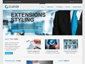 Clarion WordPress website template